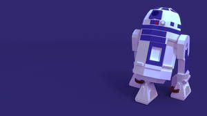 R2D2 Low-poly Art 3D Blender by Dustinnb