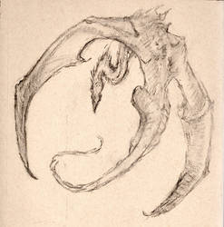 Sketching a dragon in flight