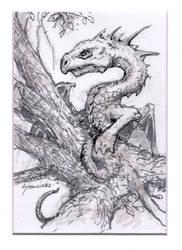 Tree Dragon Brush Marker Drawing