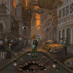 Fartown digital illustration