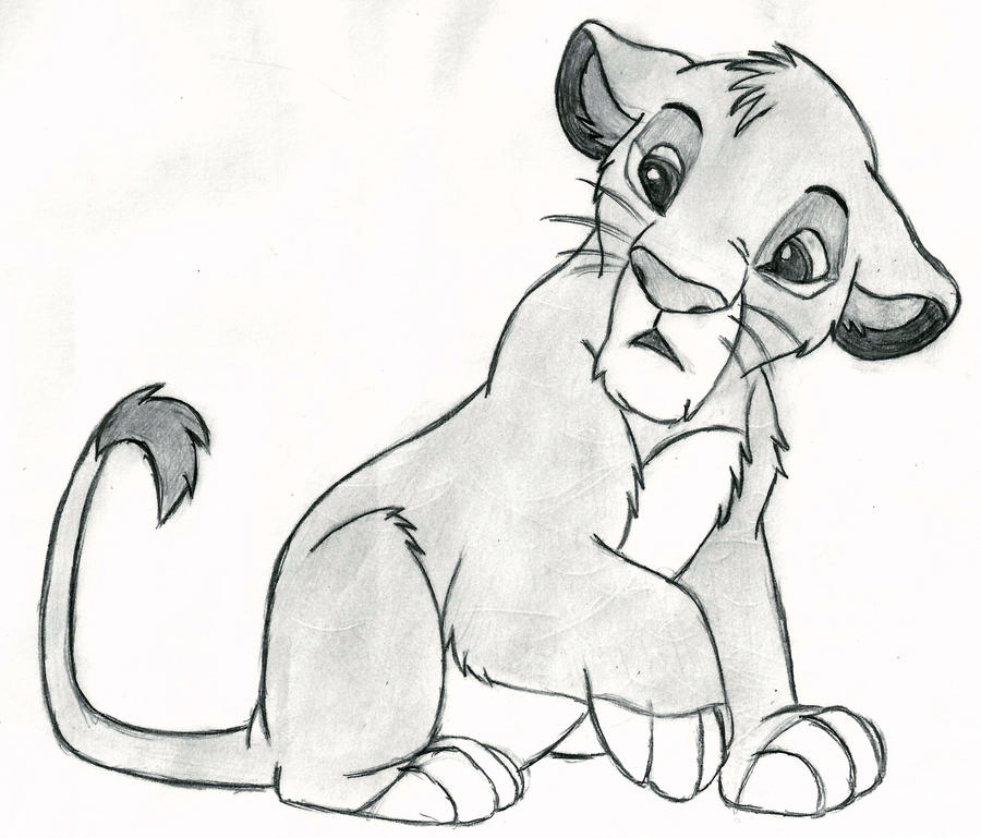 The Lion King - Simba (cub) by 09Dianime on DeviantArt