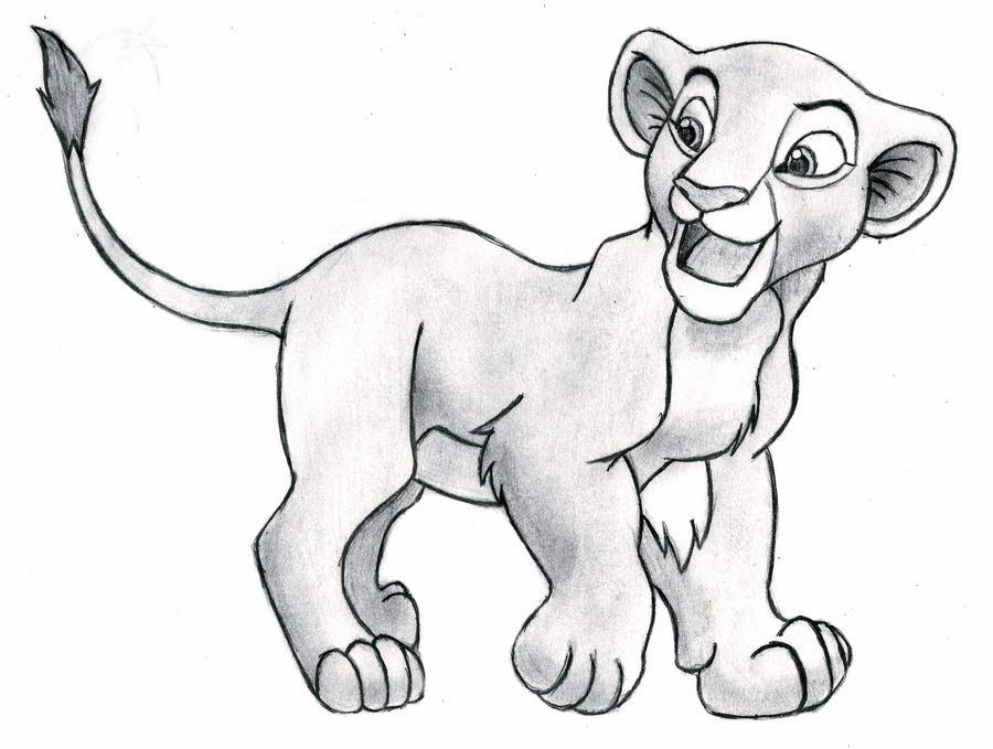 Король лев рисунки для срисовки