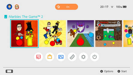 Nintendo Switch OS with Marbles The Game games