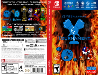 Clever All-Stars Tournament Switch US Cover Art by maxiandrew