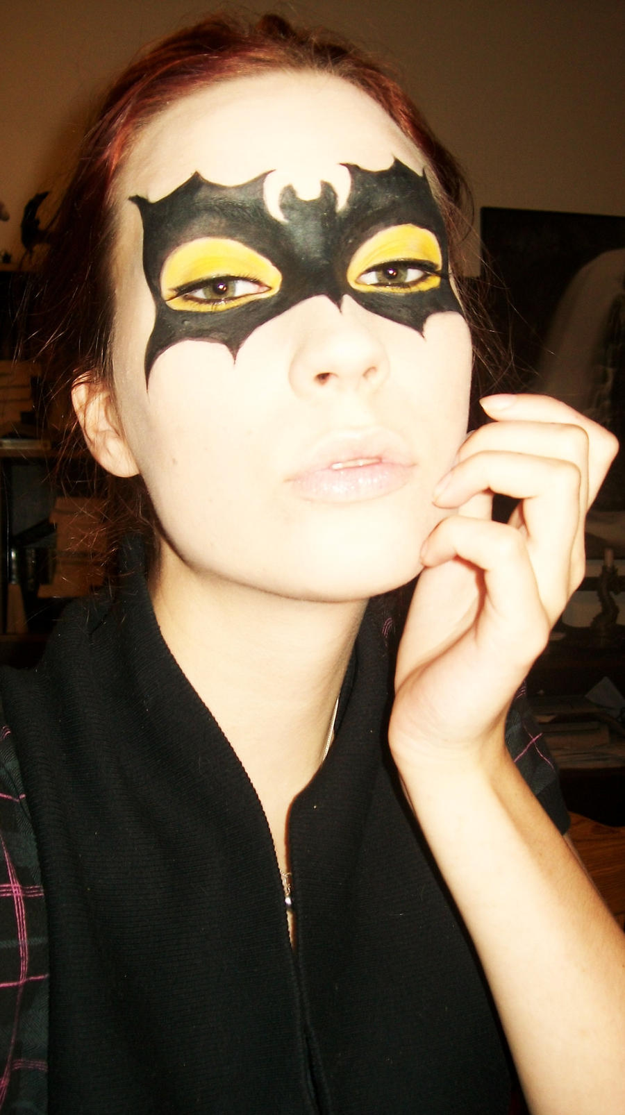 Batgirl Mask Makeup By Arimina On DeviantArt
