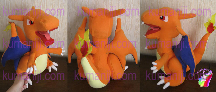 CHARIZARD PLUSHIE by chocoloverx3