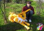 jolteon plush real size handmade