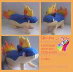 Quilava pokemon plush handmade