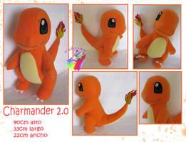 Charmander 2.0 plush hand made by chocoloverx3