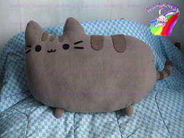 pusheen pillow plush by chocoloverx3