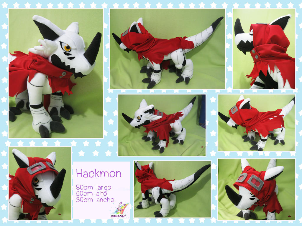 Hackmon digimon plushie commish by chocoloverx3