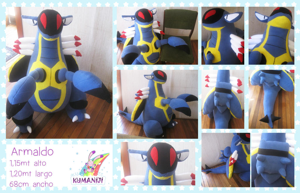 Armaldo pokemon giant plushie by chocoloverx3