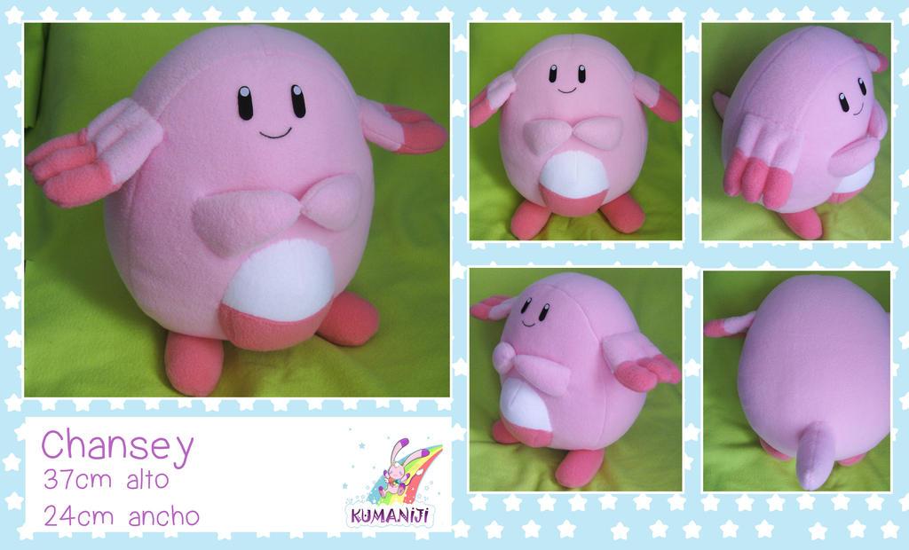 chansey plushie pokemon by chocoloverx3