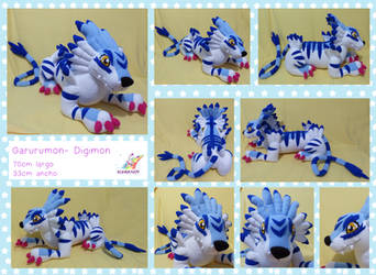 Garurumon plushie by chocoloverx3