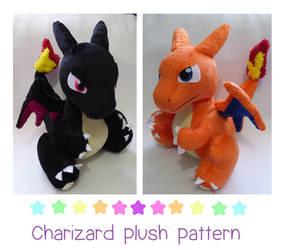 Charizard plush pattern PDF by chocoloverx3