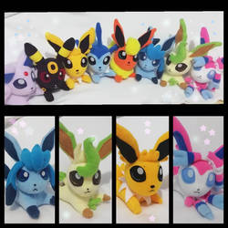 Chibi eeveelutions plushies example by chocoloverx3