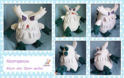 Abomasnow pokemon plushie by chocoloverx3
