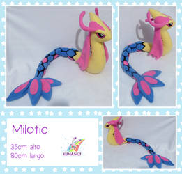 Milotic pokemon plushie by chocoloverx3