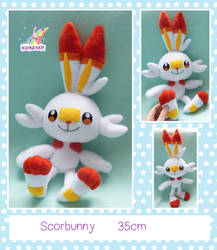 Sscorbunny 2.0 plush pokemon by chocoloverx3