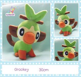 Grookey pokemon plushie by chocoloverx3
