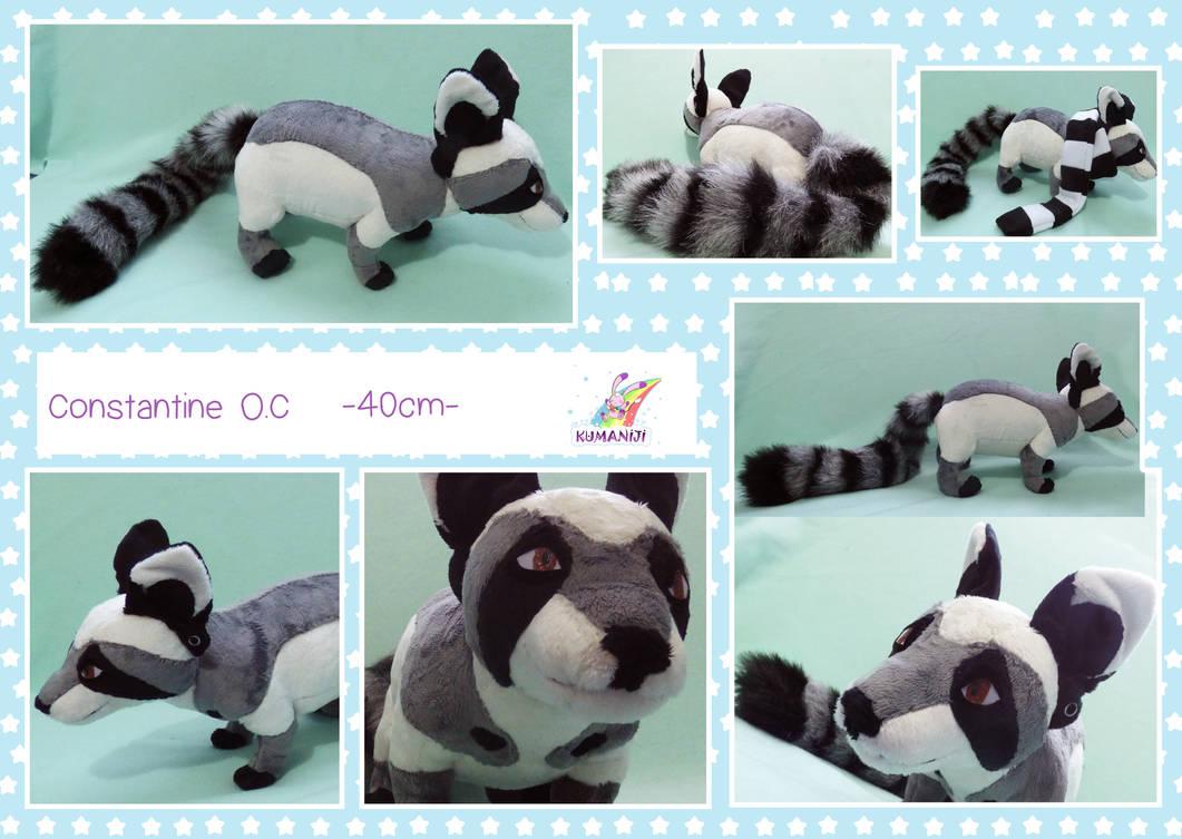 Constantine racoon lemur plush by chocoloverx3