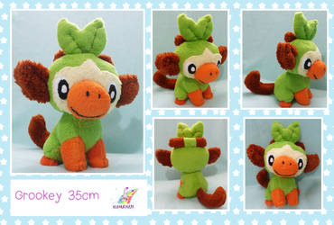 Grookey pokemon soft plushie by chocoloverx3