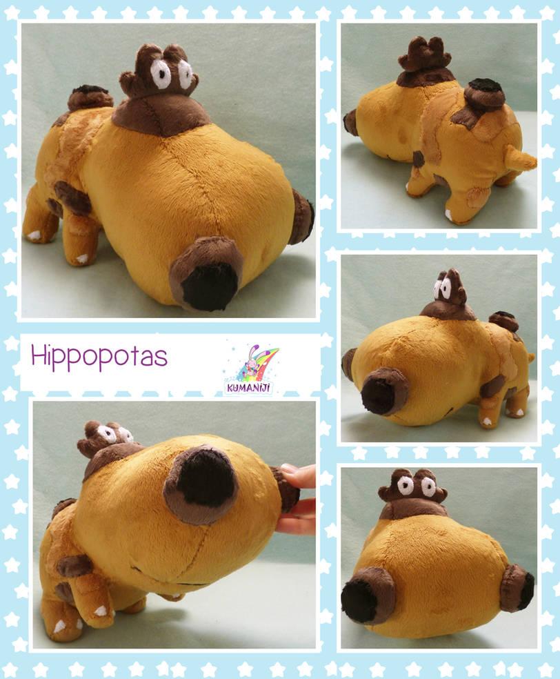 Hippopotas pokemon plushie by chocoloverx3