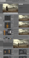 How to create scene from Final Fantasy in Blender