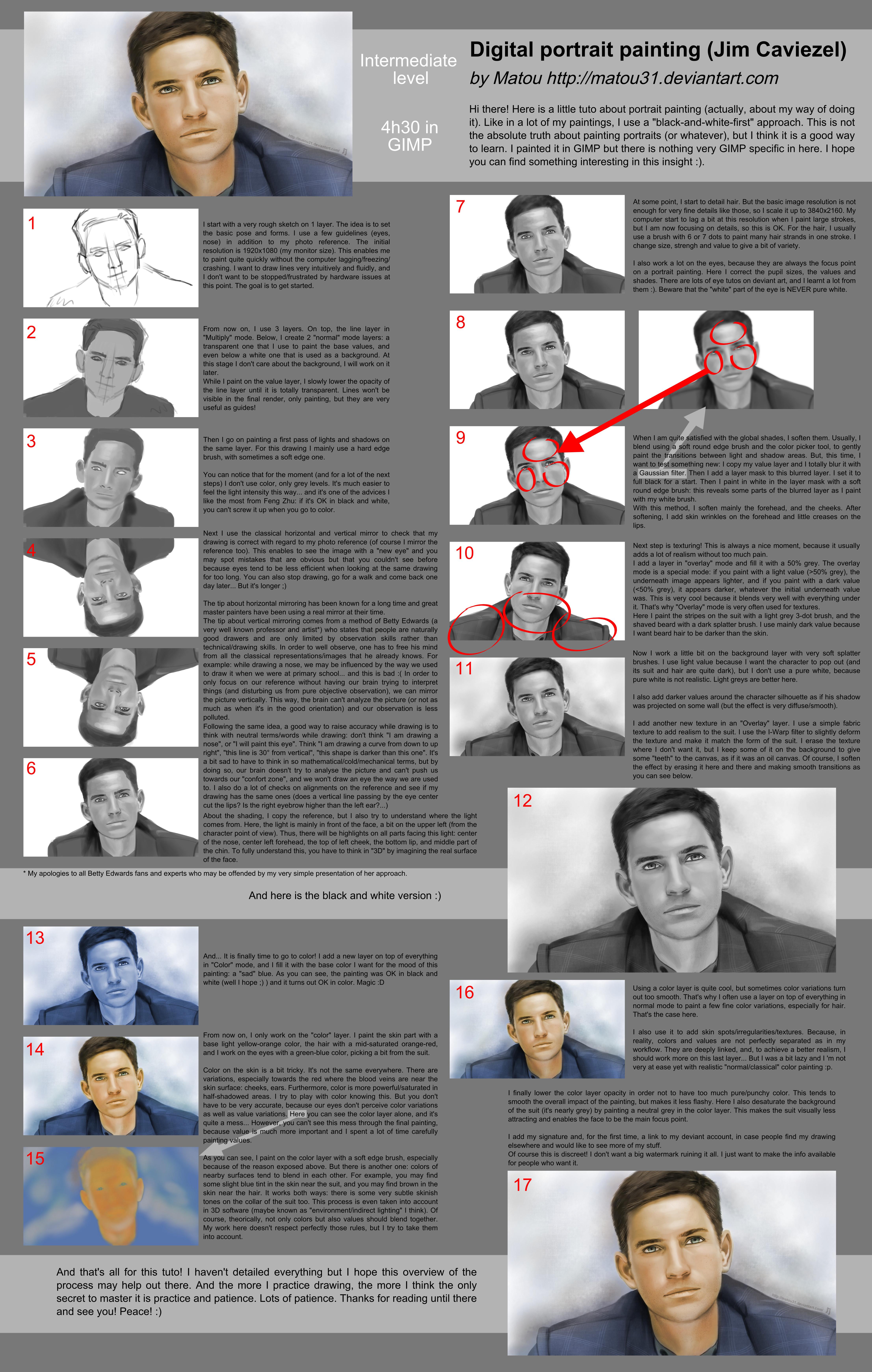 John Reese portrait tutorial