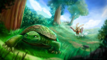 The Tortoise and The Hare by Matou31