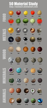 50 Material Study Challenge by Matou31