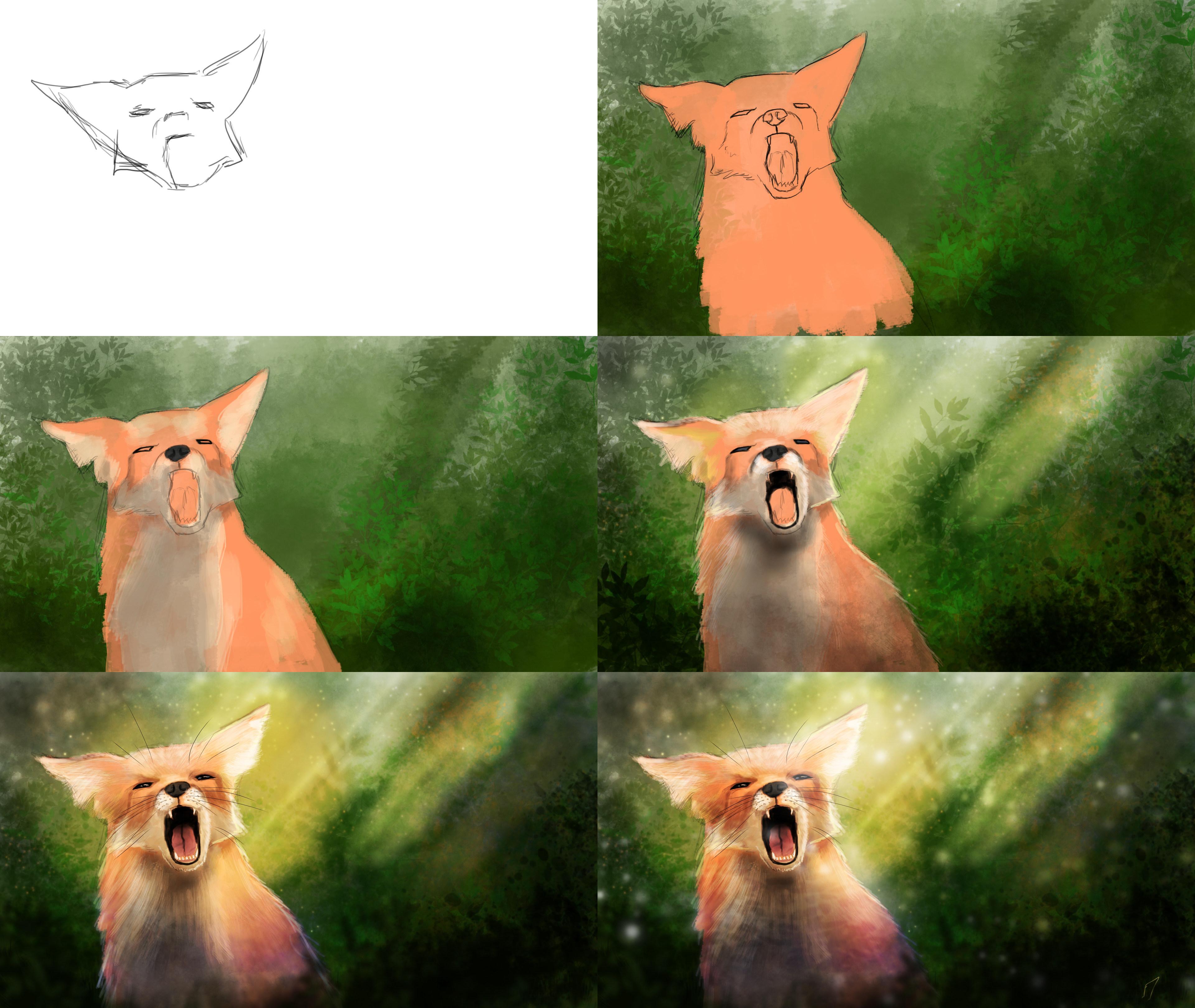 Fox Speedpainting - Making-of