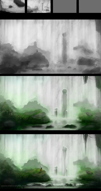 Jungle Falls - Making-of by Matou31