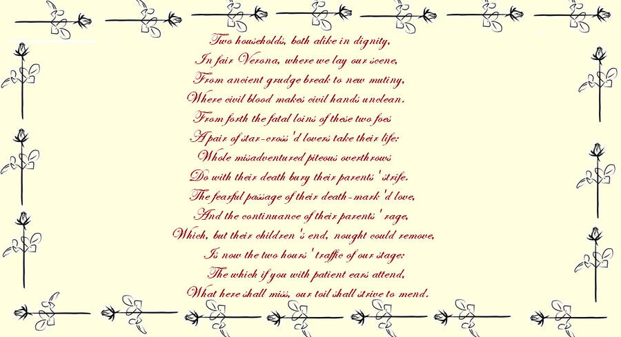 romeo and juliet prologue by thluvr on DeviantArt