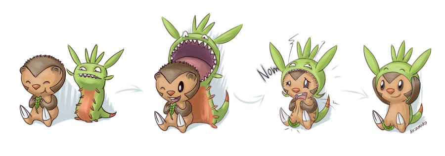 Chespin S New Coat By Aksamar On Deviantart