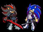 Shadow and Sonic as Ryuko and Satsuki by Shad-kun