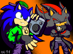 HipHop Sonic and Shadow
