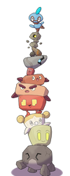 The Great Fakemon Stone Stack by Mat4265