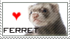 ferret stamp by evilemmamalakian