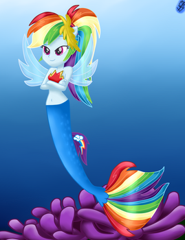 MLP The Movie EQ - Rainbow Dash Seapony
