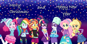 MLP - Merry Christmas and Happy New Year by liniitadash23