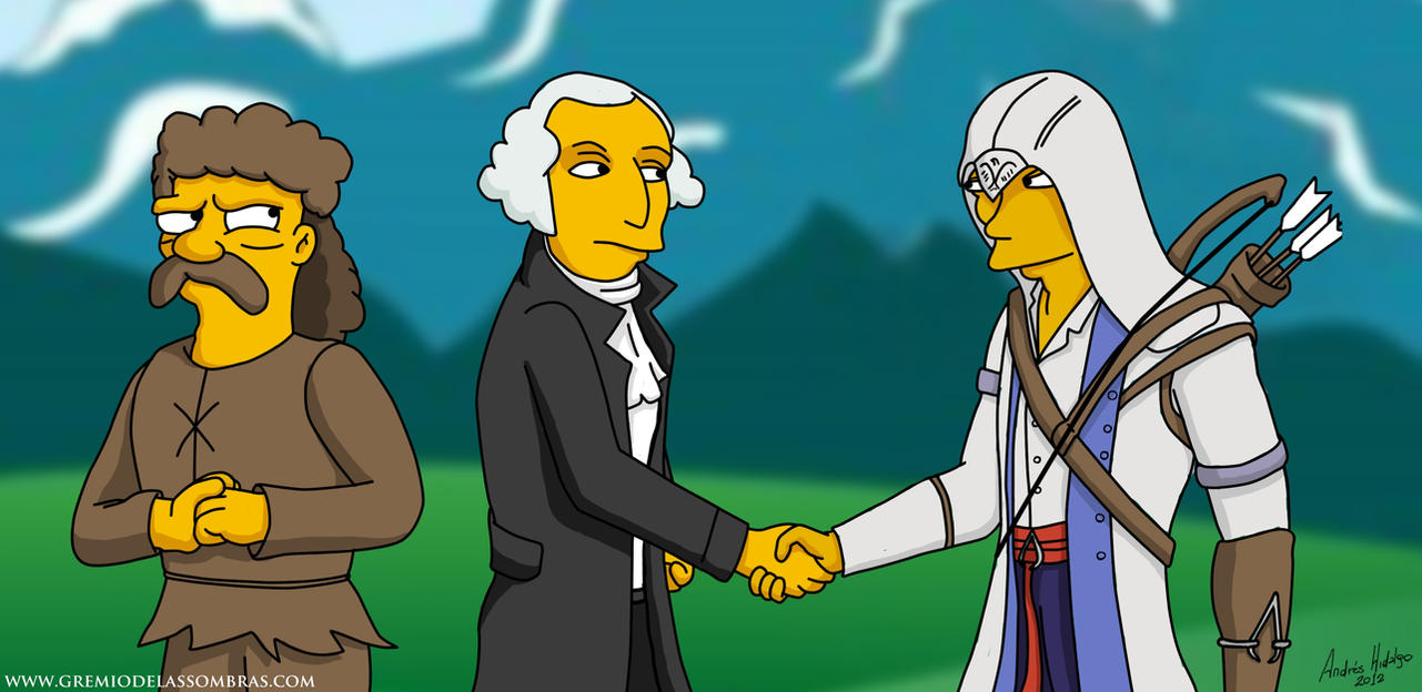 Connor Kenway meets George Washington by satanic-soldier