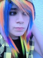 Rainbow hair by Sakurasykes