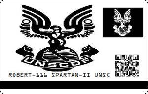 ROBERT-116 SPARTAN-II UNSC ID