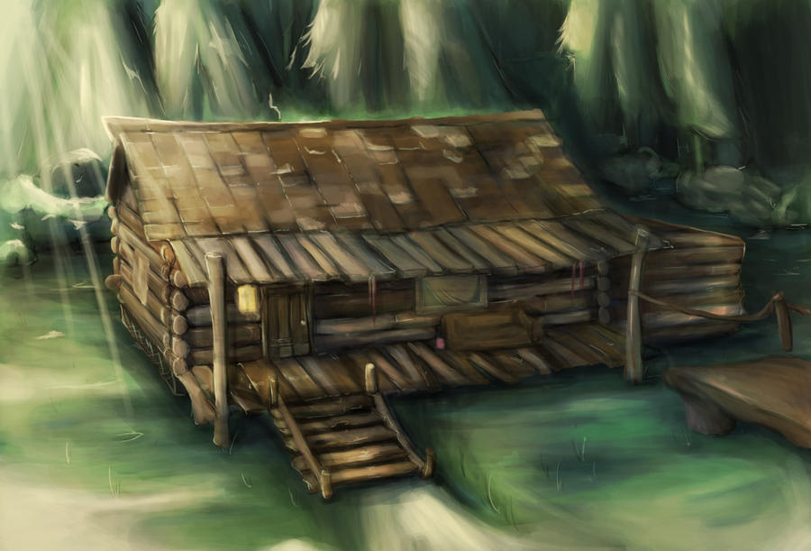 Concept Image for my Cabin in the Woods project. by CatCouch