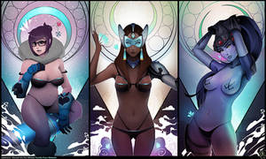Overwatch Pin-up Triptych