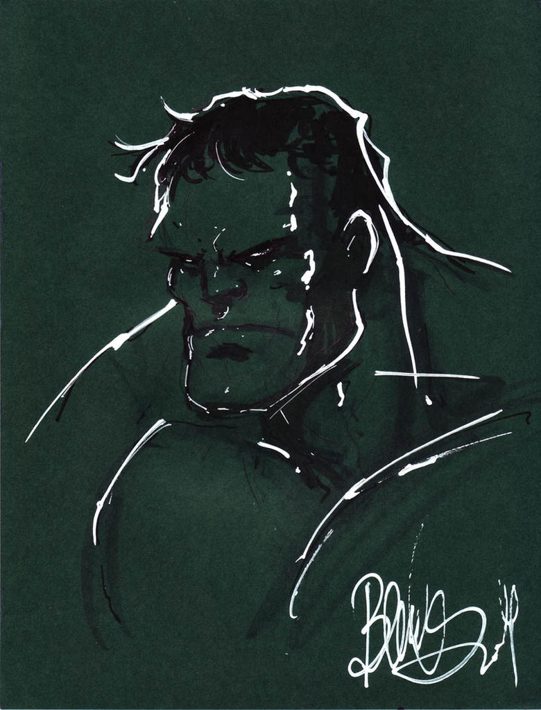 Hulk on green by joebenitez
