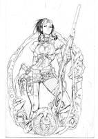 Lady Mechanika 0 cover pencils by joebenitez