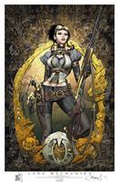 Lady Mechanika Cover 0 print by joebenitez