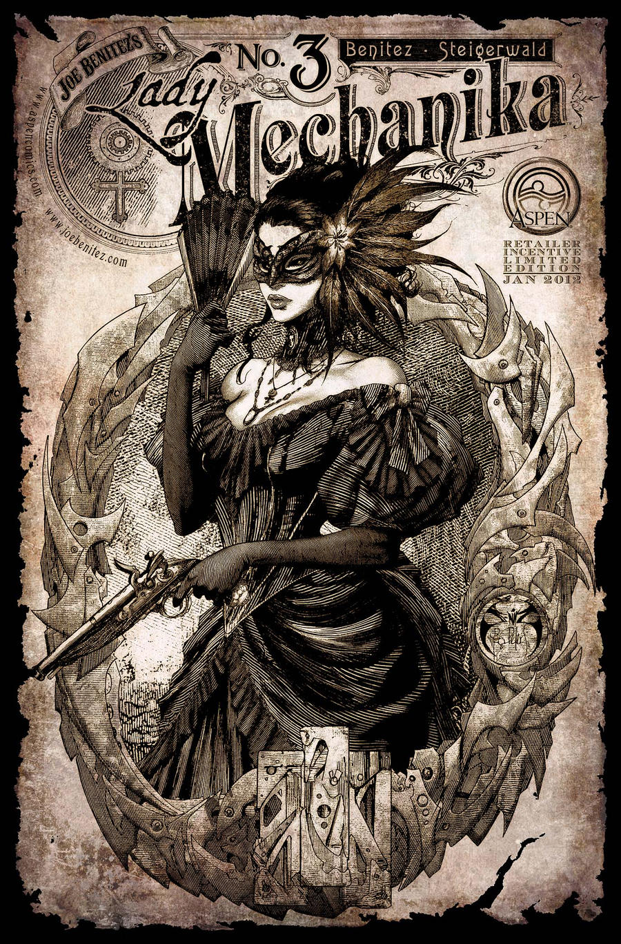 Lady Mechanika 3 Cover Retailer incentive by joebenitez